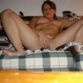 Redhead chick satisfied herself at home