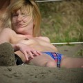 Voyeur nudist beach close up