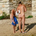Perfect blond danish teen on nudist beach  - 8