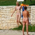 Perfect blond danish teen on nudist beach  - 15