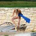 Perfect blond danish teen on nudist beach  - 16