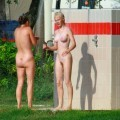 Perfect blond danish teen on nudist beach  - 19