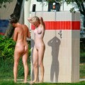 Perfect blond danish teen on nudist beach  - 20