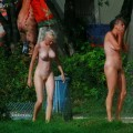 Perfect blond danish teen on nudist beach  - 22