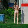 Perfect blond danish teen on nudist beach  - 24
