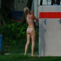 Perfect blond danish teen on nudist beach  - 27