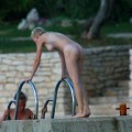 Perfect blond danish teen on nudist beach  - 30