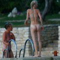 Perfect blond danish teen on nudist beach  - 31