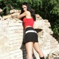 Nice ex girl chantal outside at ruine