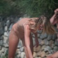 Cute teen on nudist beach set young teen girl