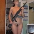 Young soldier girls caught naked - military - army