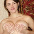 Girl with very hairy pussy and big boobs