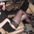 Getting out of cars panty flash