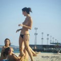 Amateurs girl topless at the beach - spy photos 03