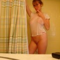 Hot blond amateur teen takes selfpics