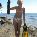 Amateur topless girls on the beach no.10