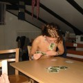 Teen girls play strippoker