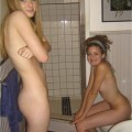 Two asisters in bathoom