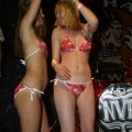 Night party and striptease girls
