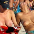 Amateurs girl topless at the beach - spy photos 04