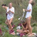 College initiations: wet games. part 1.