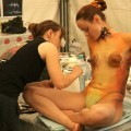 Amateurs: body painted girls. part 8.
