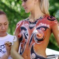 Amateurs: body painted girls. part 7.