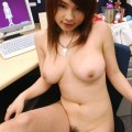 Asians - naked office chick