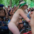 Nude on bicycle in public 94