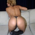Amateur blonde girl strip and shows her lovely ass
