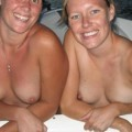 Amateur girls on boat holiday