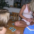 Amateur girls playing strip poker no.02