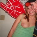 Party flashing tits and pussy