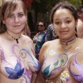 Amateur girls theirs body painting