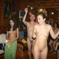 Russian party nudist new year