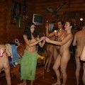 Russian Party Nudist New Year  - 13
