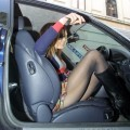 Voyeur - out of car panty flash