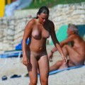 Beach woman with tanlines 2