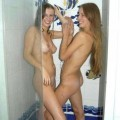 Two naked teengirls in bathroom