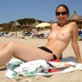 Amateur topless girls on the beach no.11