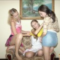 Secret photos - 3 young girls - fun at home -  set 02