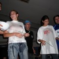 College initiations - wet t-shirt competition