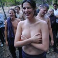 College initiations in the forest