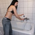Nice ex girl chantal in bathroom