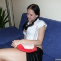 Nice ex girl chantal on sofa