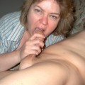 Perverted mature having fun with neighbors cock