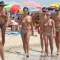 Grouptopless photos amateur girls on the beach