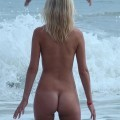 Blonde girl on the nudistbeach / fkk