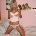 Young blonde girlkfriend in underwear