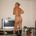Amateur teen make striptease for bf at home